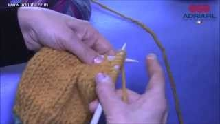 Adriafil tutorial: knit in Garter stitch/tricoter en point mousse