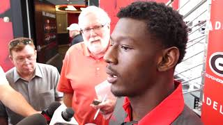 Riley Ridley - Day 1 Fall Camp - August 3, 2018