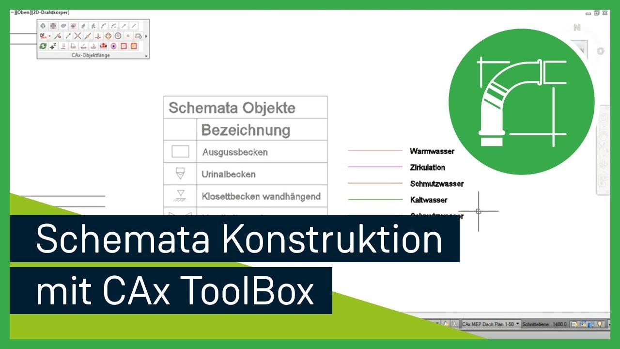 AutoCAD MEP 2014 | Schemata Konstruktion mit Hilfe der CAxToolbox ...