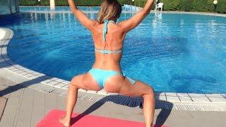 Упражнения для внутренней части бедра | Inner Thigh Workout(Упражнения для внутренней части бедра. Упражнения для ног, бедер, ягодиц. Похудение ног. Накачать ягодицы...., 2015-10-03T06:19:27.000Z)