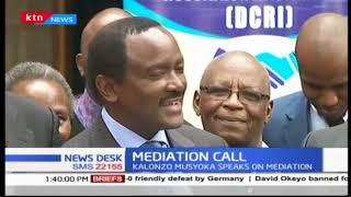 Kalonzo Musyoka speaks on mediation