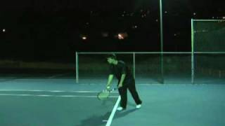 Awesome Tennis Serve By Ambidextrous Chris Lavery