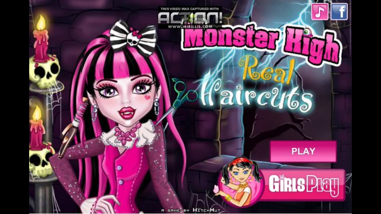 Draculaura From Monster High Hairstyle Games Draculaura Hair
