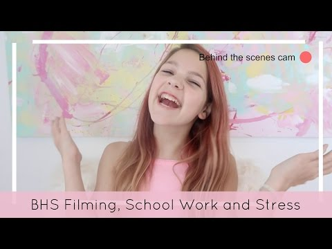 School work, Stress, BTS Filming with Hope & why I do YouTube
