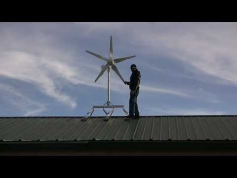 Skymax™ wind turbine roof mount for residential roof tops