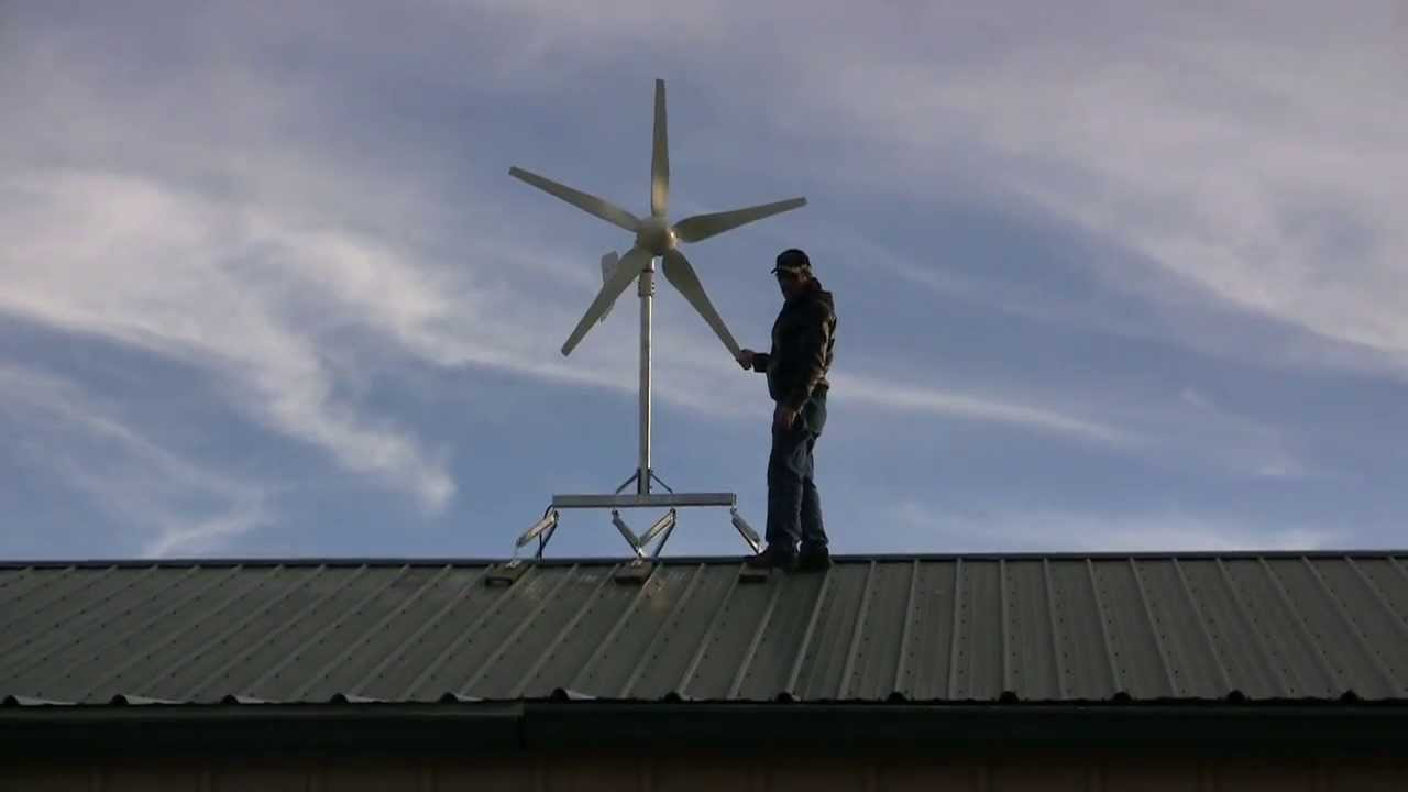 Skymax™ Wind Turbine Roof Mount For Residential Roof Tops   YouTube