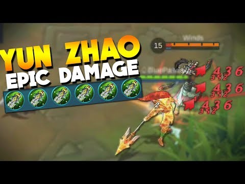 Yun Zhao MAXIMUM Physical Damage! Mobile Legends
