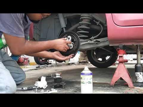 Masalah bunyi berdengung. DIY tukar bearing tayar belakang produa myvi.