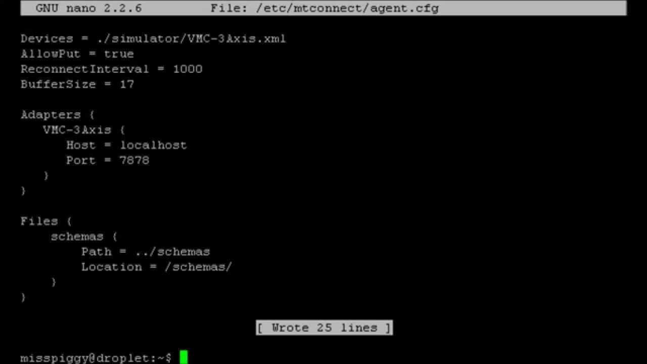 MTConnect Agent in Ubuntu Linux