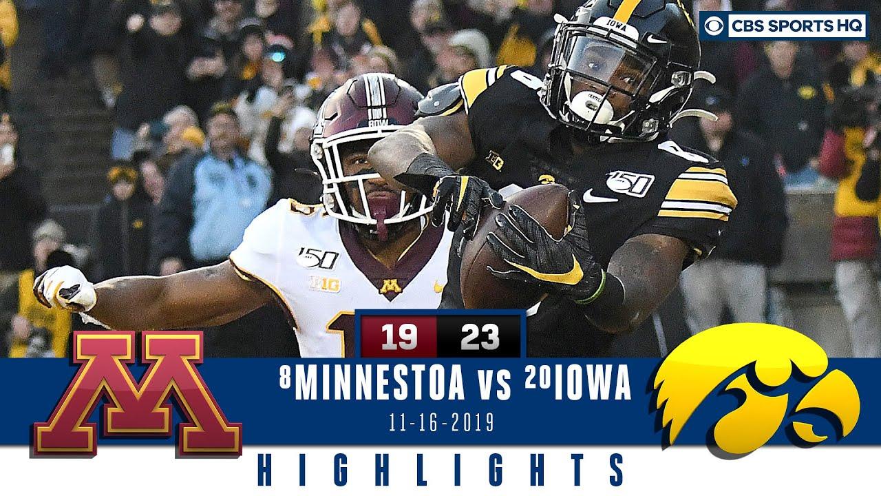 23 Iowa Vs 7 Minnesota Highlights Iowa Hands Minnesota Its First Loss 23 19 Cbs Sports Hq