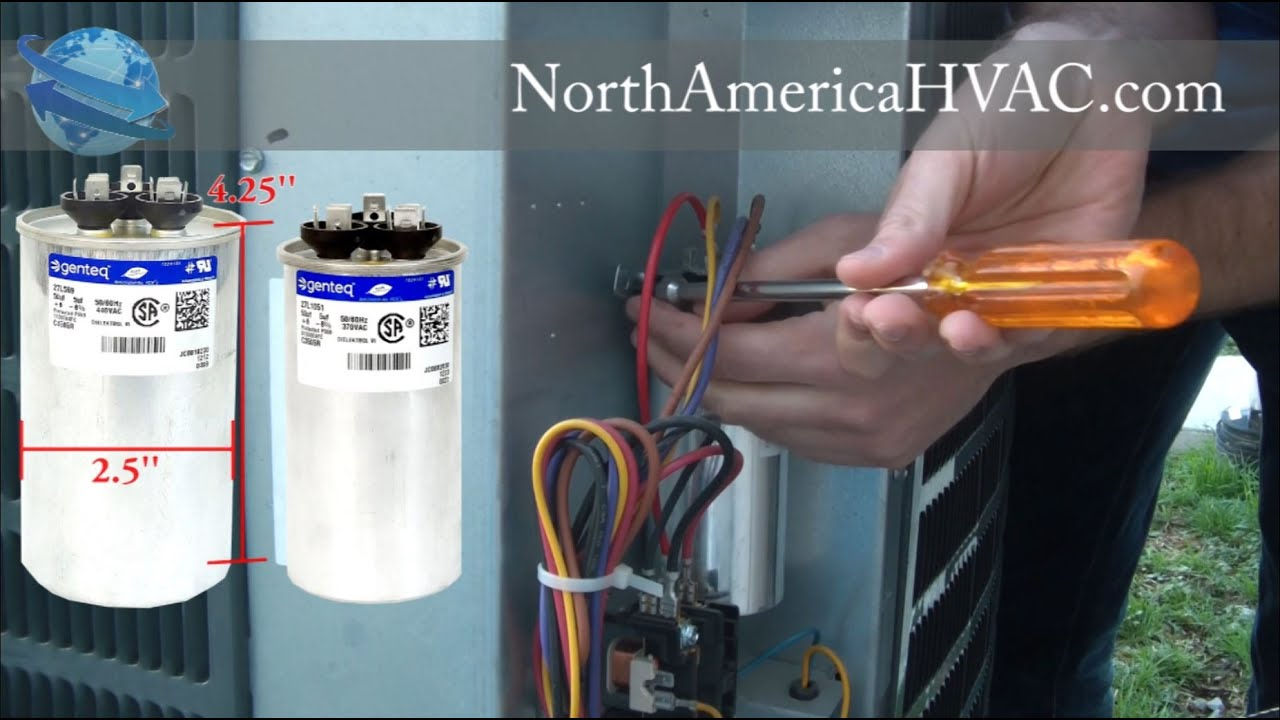 2wire Ac Capacitor Wiring Reveolution Of Diagram Fan Motor How To Replace A Hvac C Replacement Youtube Rh Com Goodman