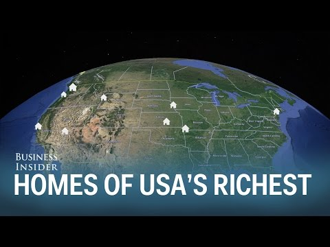 Where the richest 20 people in the US live
