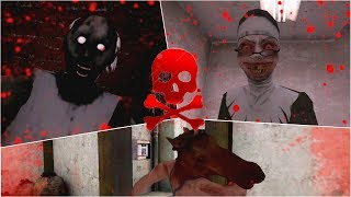 Bloody Endings | Granny vs HeadHorse vs Evil Nun