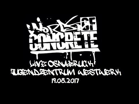 WORDS OF CONCRETE LIVE OSNABRÜCK JUGENDZENTRUM WESTWERK 19.8.2017