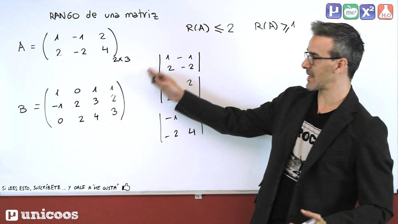 RANGO De Una Matriz Por Determinantes 01 BACHILLERATO