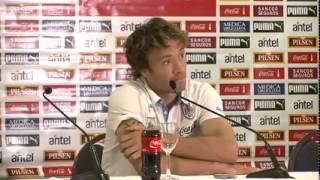 Lugano en conferencia de prensa cantando verdades a varios