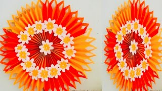 DIY - amazing paper craft ideas/ wall decor from paper/ paper craft/ ganpati pandal decoration ideas