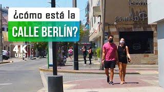 Walking down Calle Berlin Miraflores Lima Peru 2021 4k, Lima Peru walk 4k