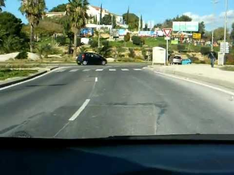 France - La Ciotat - driving home from the supermarket through town