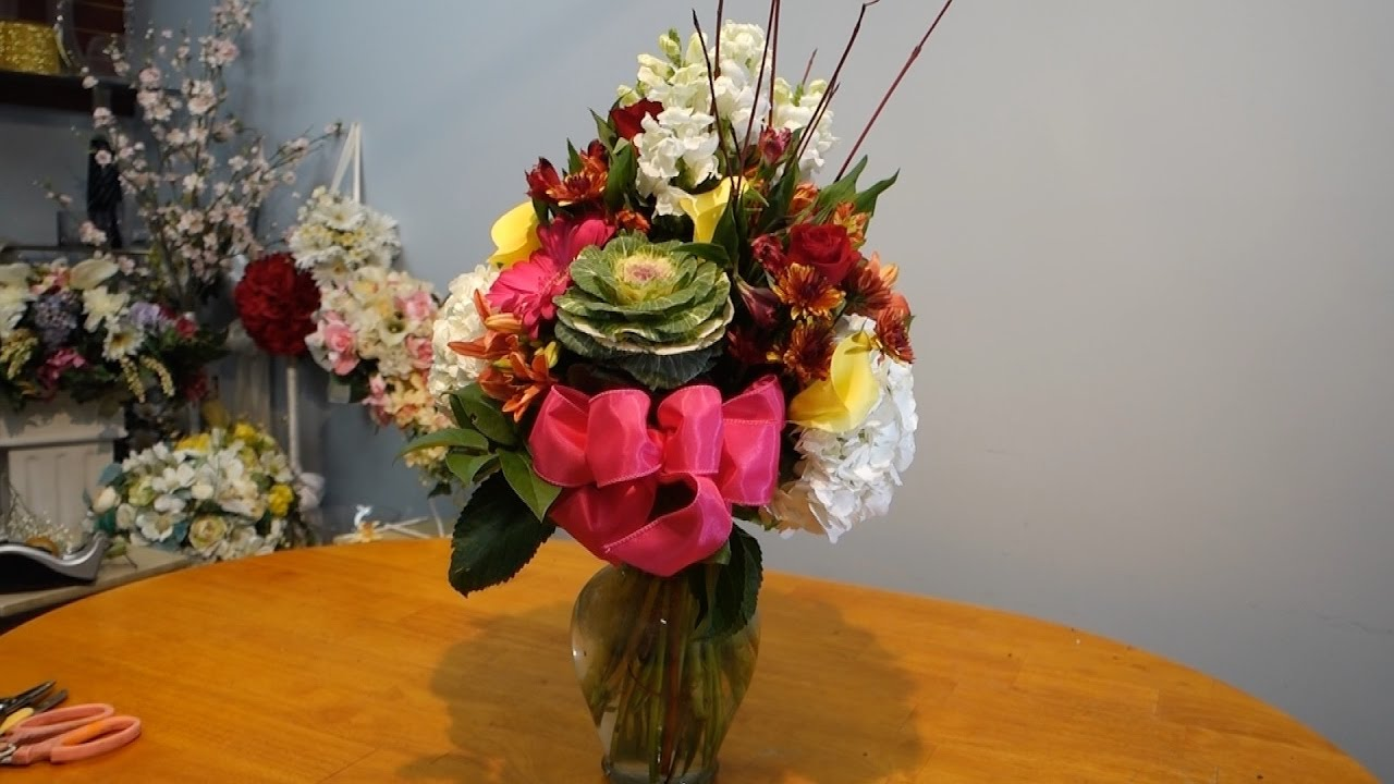 How to arrange mix flowers in a vase youtube how to arrange mix flowers in a vase reviewsmspy
