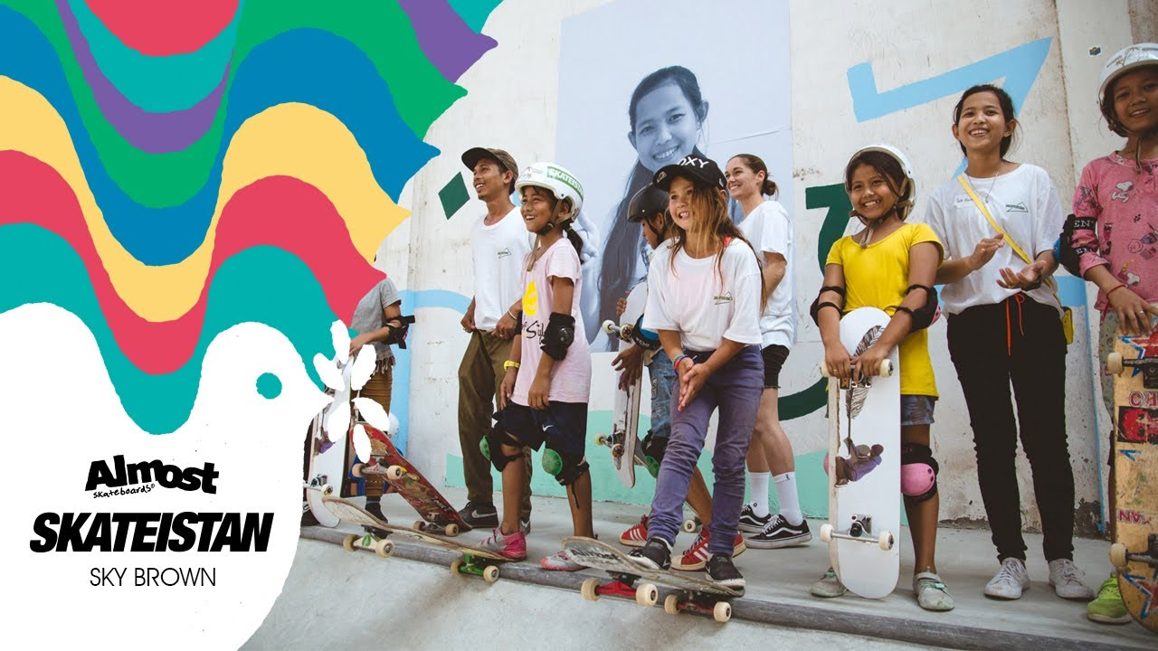 Almost Skateboards x Skateistan w/ Sky Brown | Empowering The Youth Through  Skateboarding World Wide