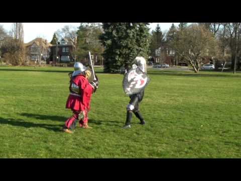 SCA fight practice Barony of Ben Dunfirth