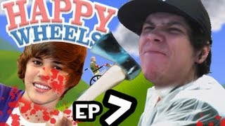 100 MANERAS DE MATAR A JUSTIN BIEBER | Happy Wheels ep. 7 |