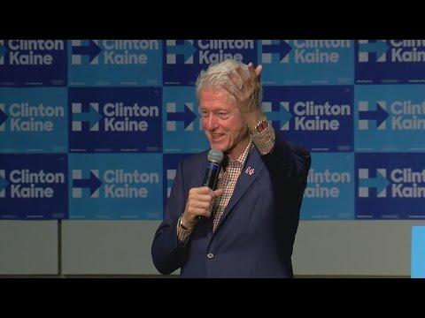 Bill Clinton campaigns for Hillary Clinton in Cincinnati