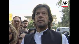 Further comments by opposition leader Imran Khan