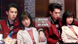 Dyshen   Dylan Wang & Shen Yue || On Screen Vs O