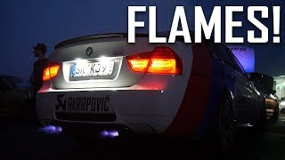 STRAIGHTPIPED BMW M3 'SAFETY CAR' SHOOTING FLAMES!
