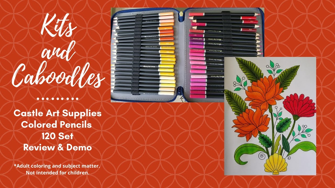 Castle Art Supplies Colored Pencils 120 Set Review & Demo ...