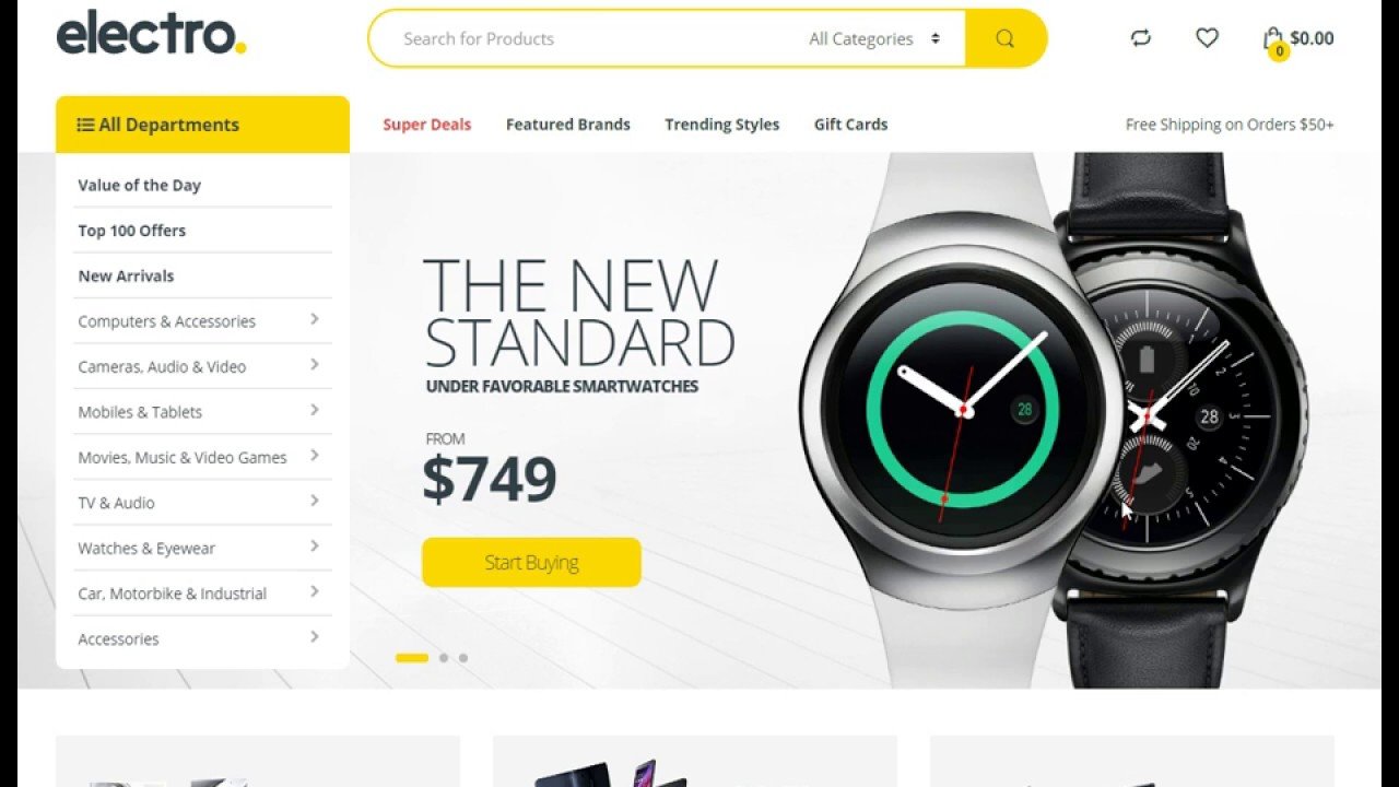 Electronics Store Woocommerce Theme Review - Electro
