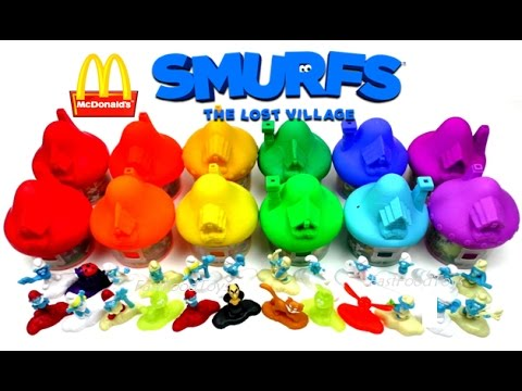 2017 FULL WORLD SET McDONALD'S SMURFS HAPPY MEAL TOYS LOST VILLAGE MOVIE 3 COLLECTION EUROPE UK USA