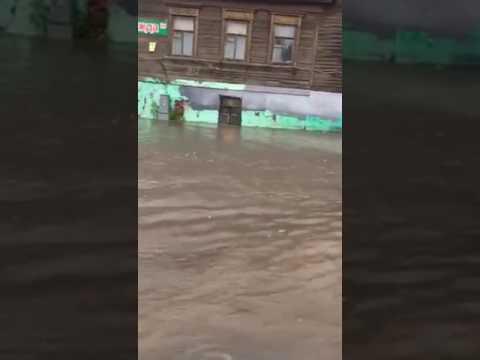 Потоп в Нижнем Новгороде!06.07.2017
