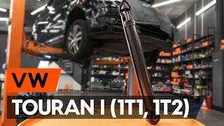 How to change Tensioner Pulley, timing belt on VW TOURAN (1T3) - online free video