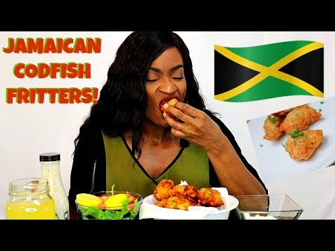 JAMAICAN CODFISH FRITTERS! COOK/MUKBANG I NEVER KNEW LOVE LIKE THIS!
