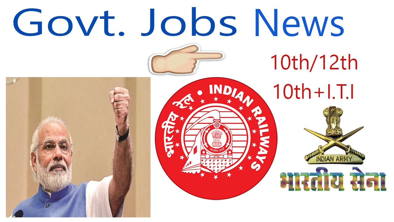 New Govt Jobs For 10th pass|10th+I T I |12th pass & Graduates