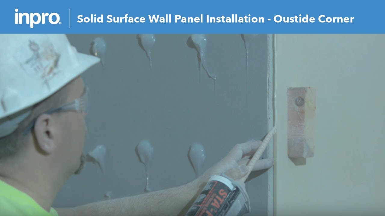 How to Install Solid Surface Wall Panel with an Outside Corner Hard ...