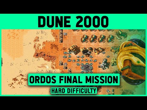 Dune 2000 - Ordos Final Mission 9 (Left Map) - Hard Difficulty - 1920x1080