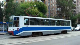 Trams of Moscow, Russia. (Московские Трамваи) - (Pусский гимн: любэ)(Better quality: https://www.youtube.com/watch?v=oyH9rCD0qeo Trams of Moscow, Russia. Most of these trams here are number 11 or 34 although there are ..., 2009-09-22T01:10:40.000Z)
