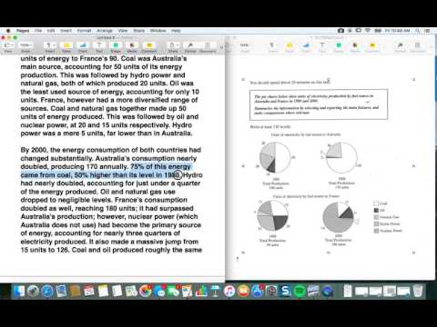 How to get a 7 or higher on the IELTS Academic Writing Task 1: Pie Chart (part 2)
