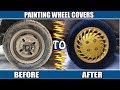 Painting Wheel Covers For Modification IN 740 PKRs