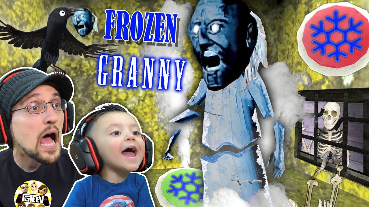 GRANNY gets FROZEN!  Oh Snap! Freeze Trap!  FGTEEV Feeds Crow Grannys Head