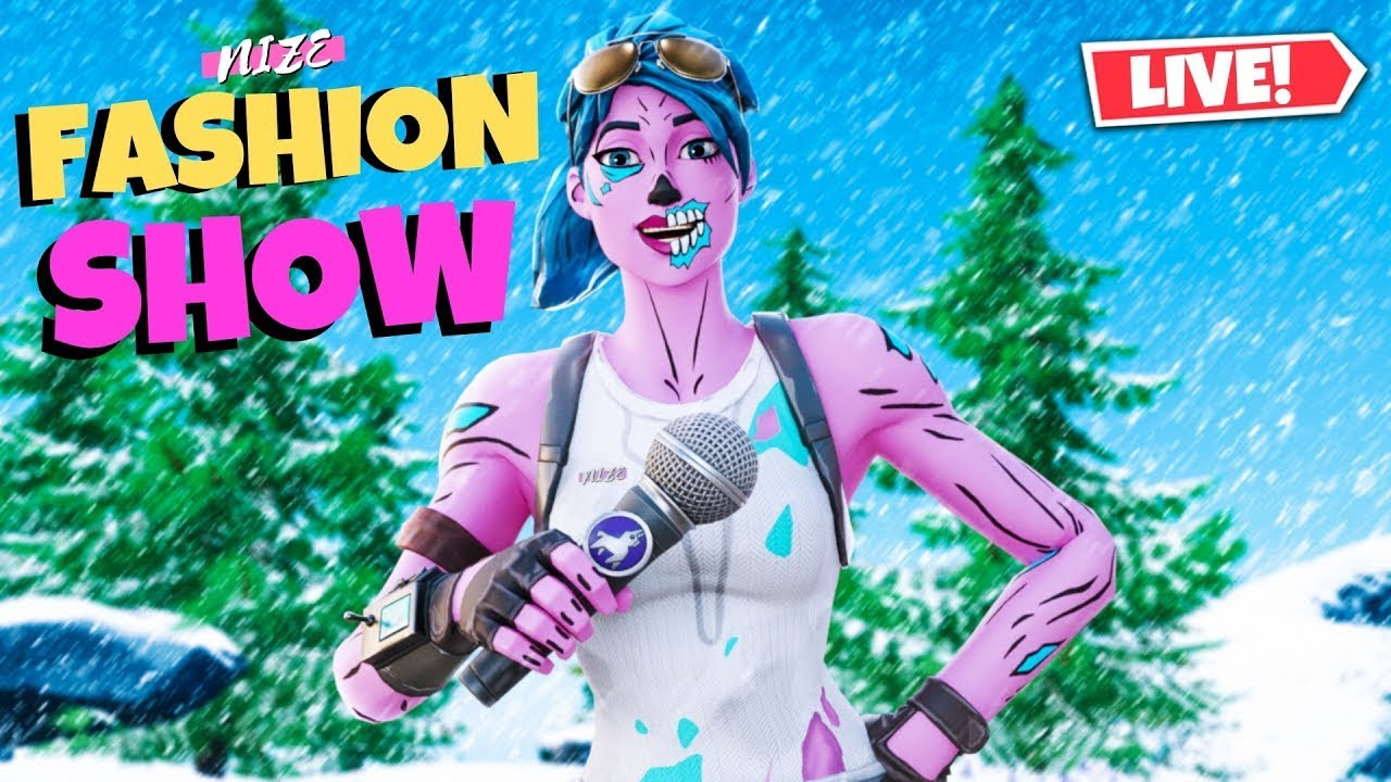 FORTNITE FASHION SHOW LIVE! SKIN COMPETITION | CUSTOM ...