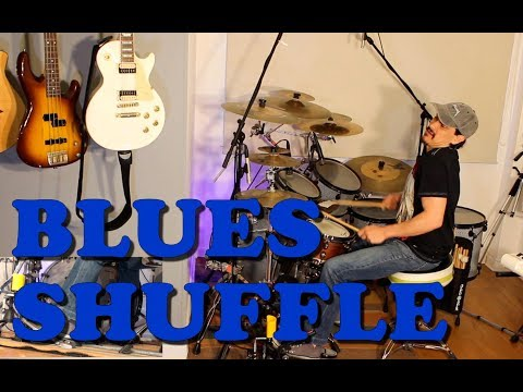 Tocar Batería - Blues Shuffle - Chicago Shuffle - Texas Shuffle