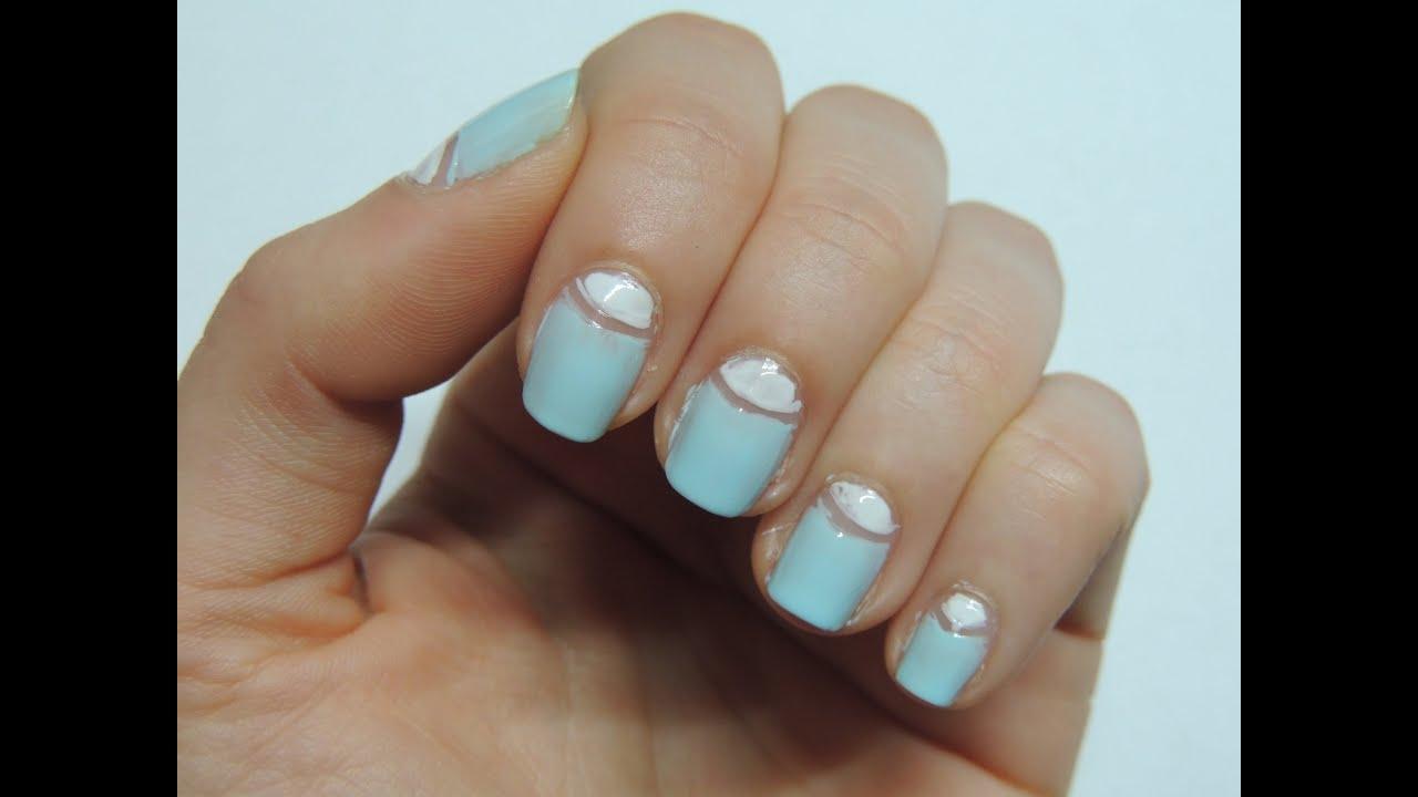 White Semi Circles On Nails Best Nail Designs 2018