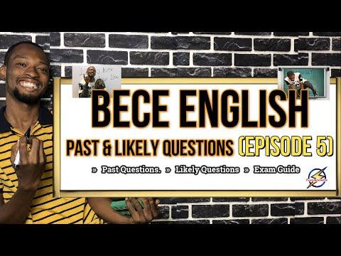 Junior Waec (BECE) English Questions   Episode 5