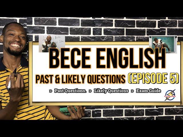 Junior Waec (BECE) English Questions | Episode 5
