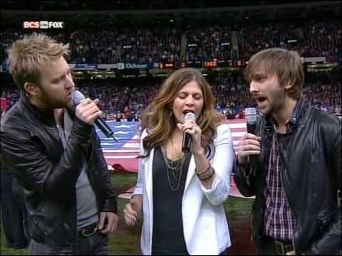 Lady Antebellum - Sugar Bowl 2010 - National Anthem